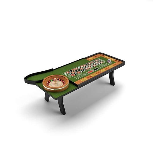 casino game table 3d model  1