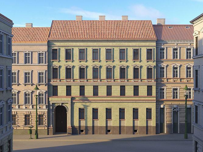 Street Facade Residantial Building Green