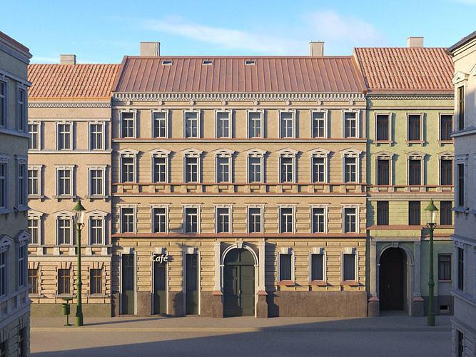 Street Facade Residantial Building Brown