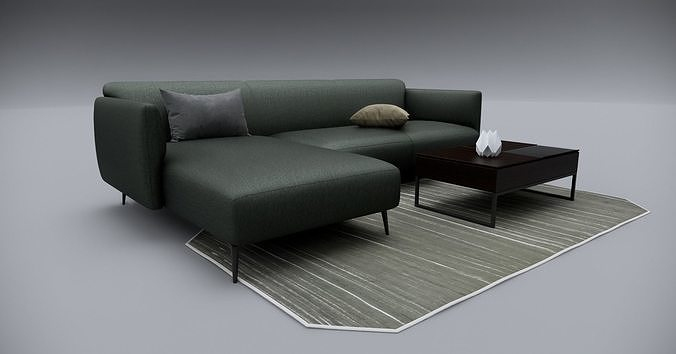 Sofa With Resting - Revit family