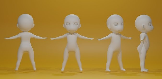 Cartoon Base Mesh 3D  Model
