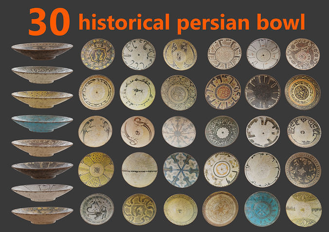30 historical persian bowl
