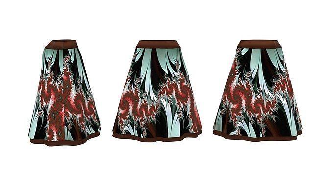 Layered Below Knee A Line Skirt
