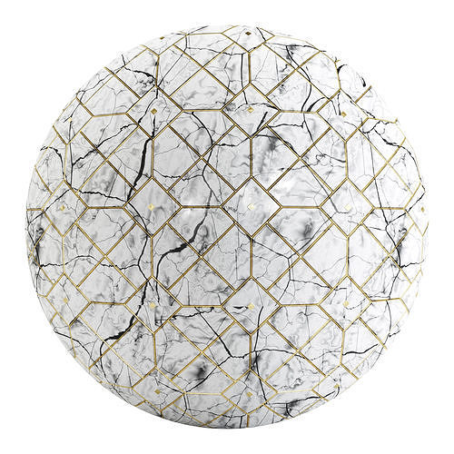 PBR Marble Floor Tile stone FB2 4K