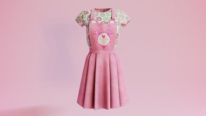 Woman outfits Overalls bear v20