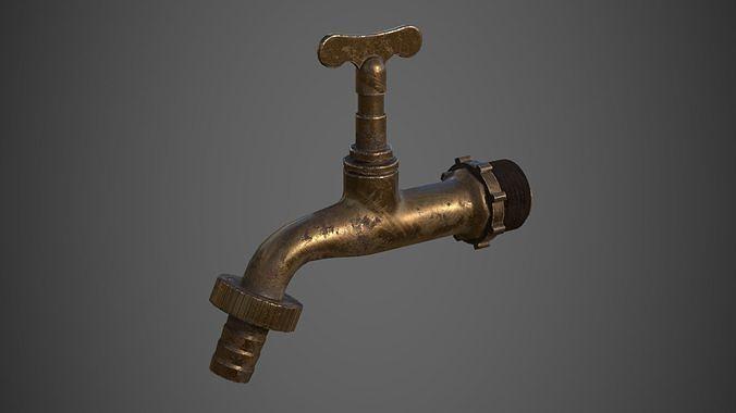 Old Copper Faucet