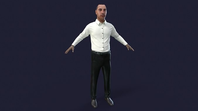 Office man with realtime hair UE4 ready to use