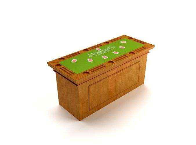 Modern Wooden Game Table3D model