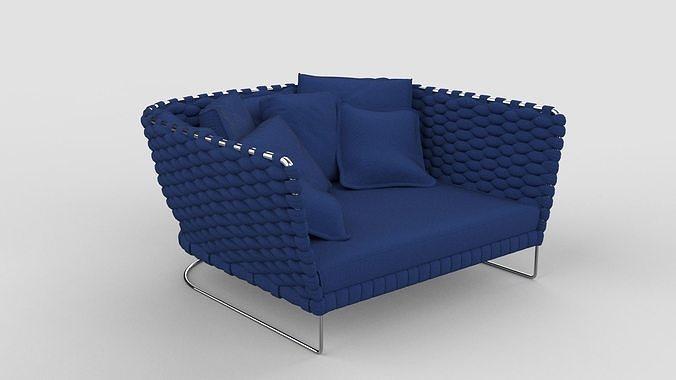 Paola Lenti Ami Sofa Royal Blue