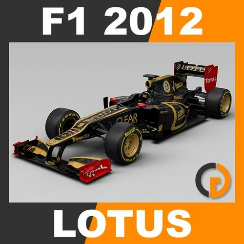 F1 2012 Lotus E20 - Lotus F1 Team3D model