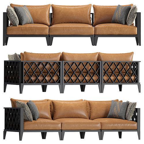 Sofa Ocean Club Leather Eichholtz 113617