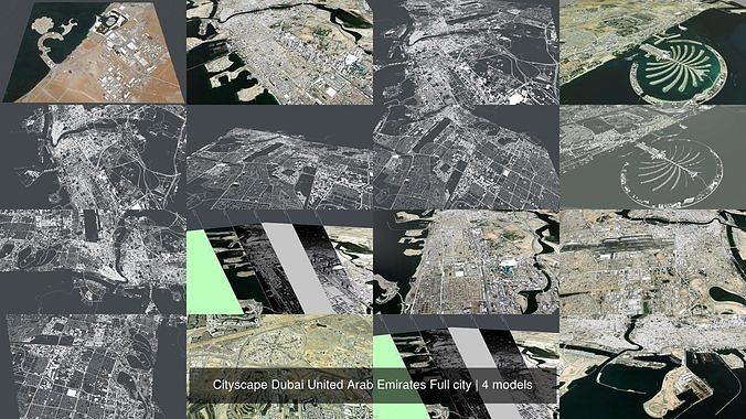 Cityscape Dubai United Arab Emirates Full city