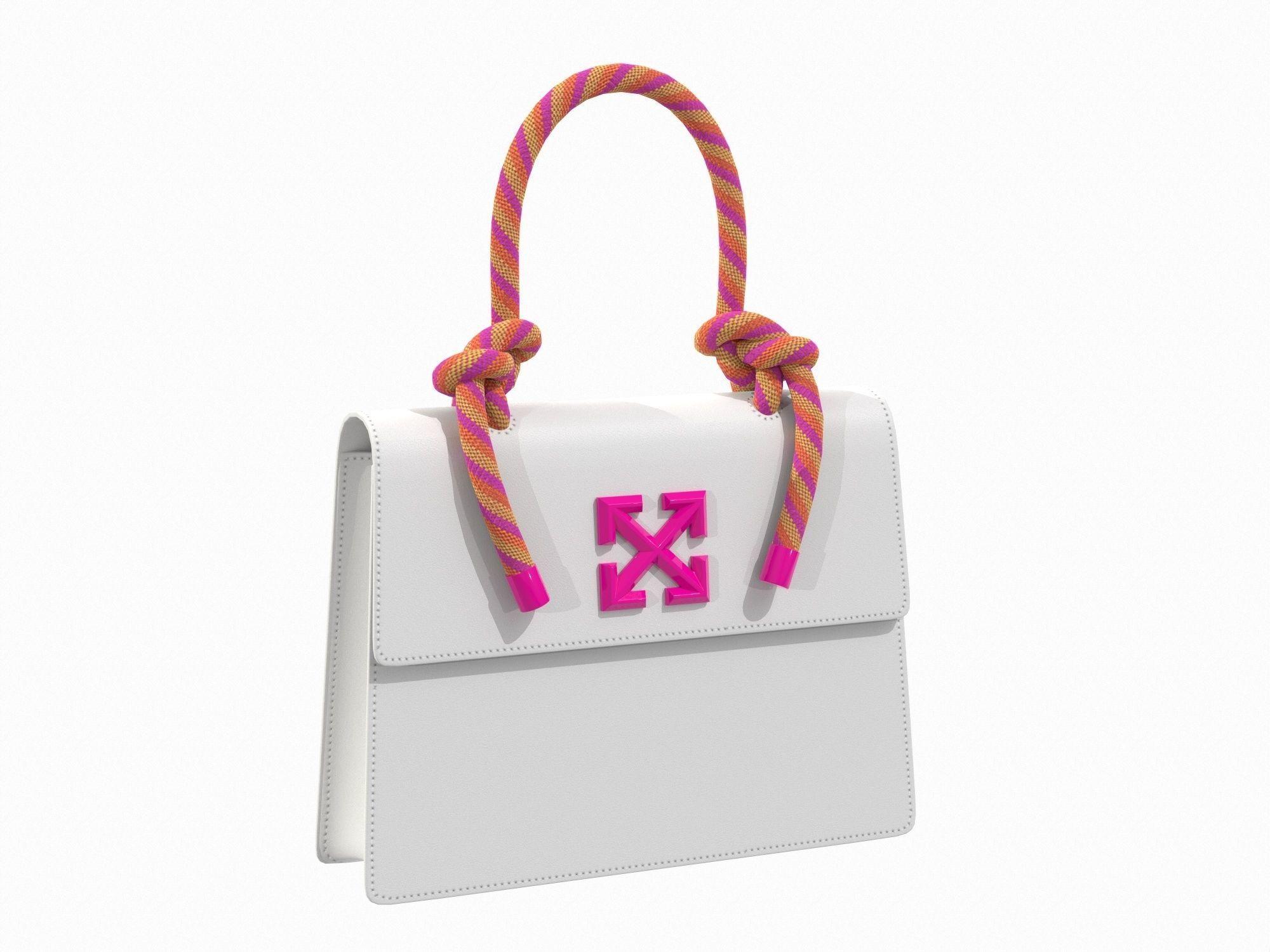 Off-White Bag Jitney Gummy White Pink