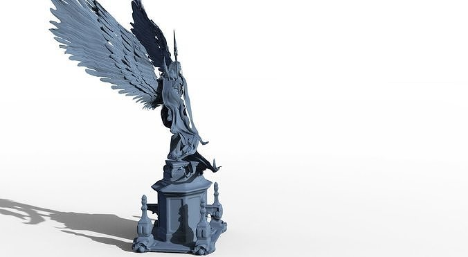 Angel statue top with new stand