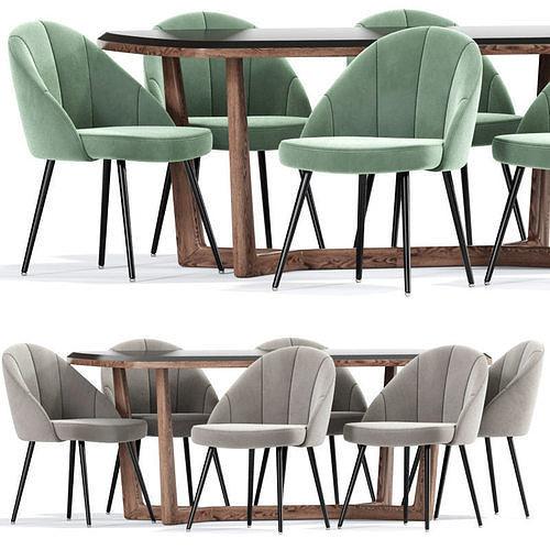 Porthos Home Daija Velvet Dining Chairs