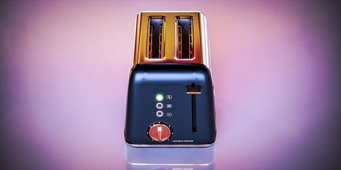 Black and Chrome Toaster