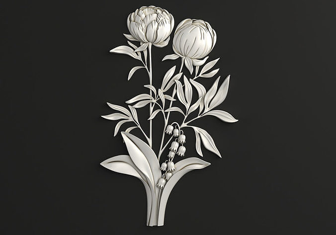 Carved decor Flowers