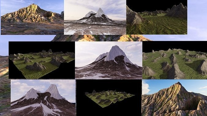 Mountains of different climatic zones