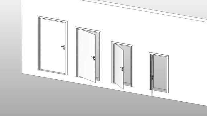 Door - Full Parametric Revit Family