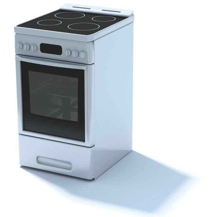 kitchen appliance electric stove 3d model