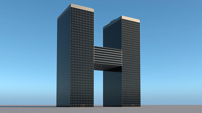High-rise building skyscraper  letter H 3D model