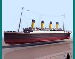 R M S TITANIC SHIP 3D Model