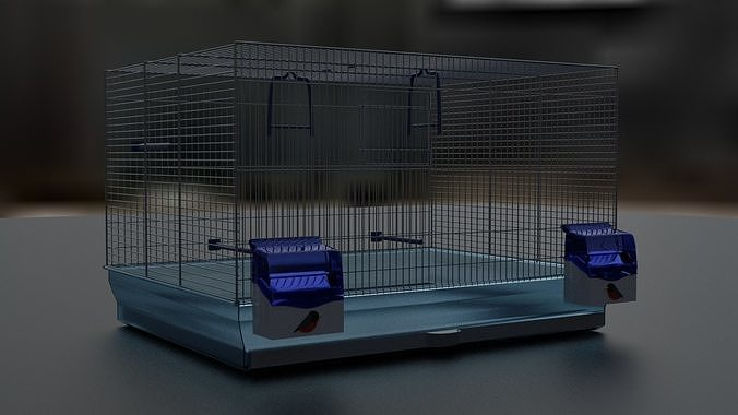3d model of a cage for parrots