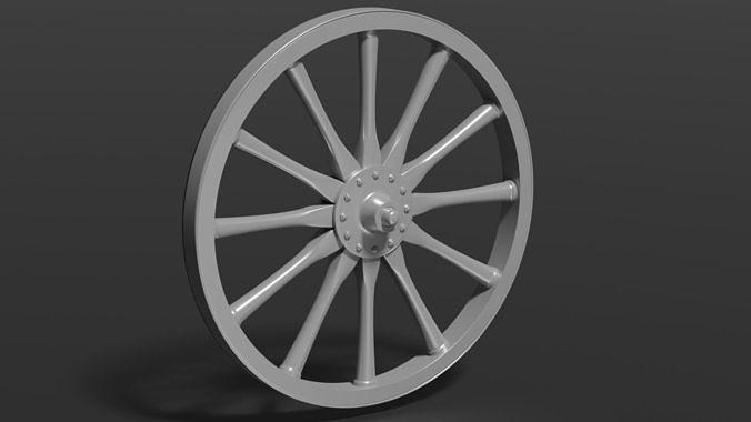 Old Wheel 3D Print