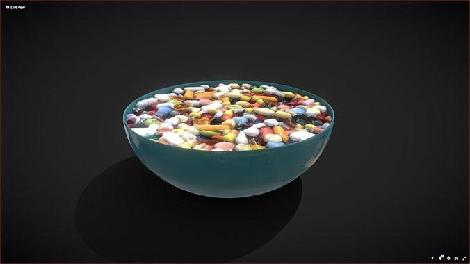 Bowl full of pills