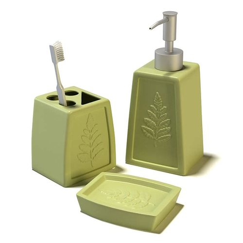 Bathroom Toiletries Set 3D Model