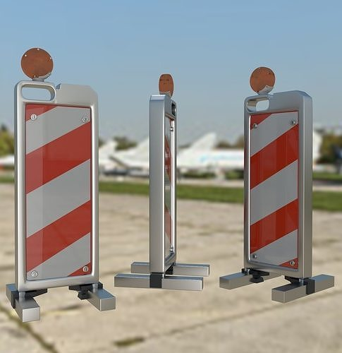 Traffic Vertical Panel Channelizer Barricade with light