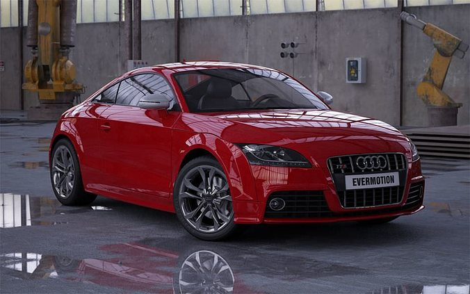 Two Door Car Audi Tts 3D model | CGTrader