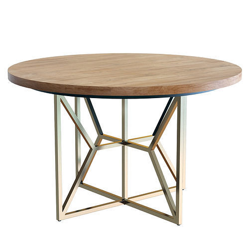 Crate and Barrel Hayes Round 48 in Table
