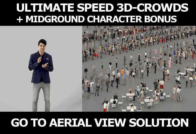 3d crowds and Prime A clapping Midground Smart Casual Man