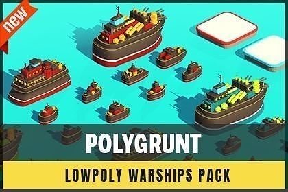 POLYGRUNT - Low Poly Warships Pack
