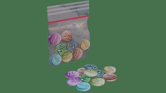 Simple Extasy Pills and Bag