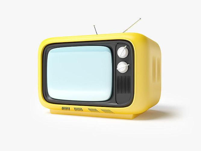 retro tv in seventies style