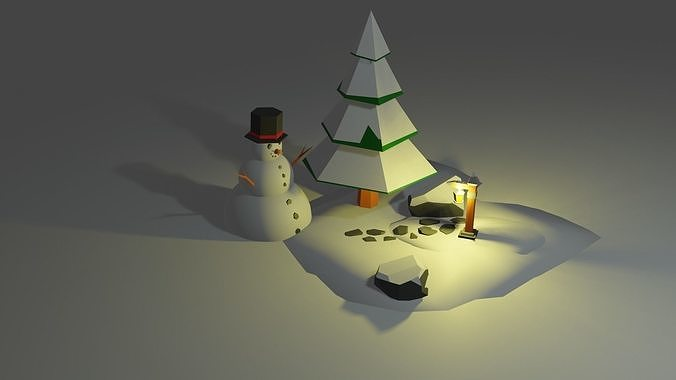 Low poly winter asset pack