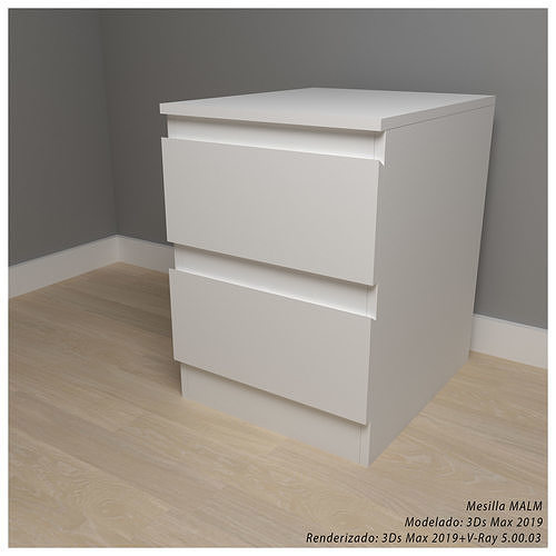 IKEA MALM bedside table with two drawers