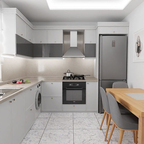 Simple Realistic Kitchen