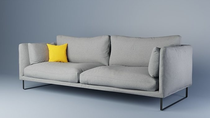 Gray fabric couch