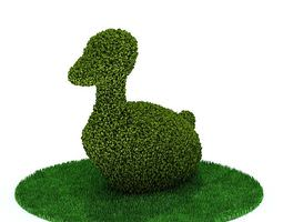 3d trimmed duck shrub