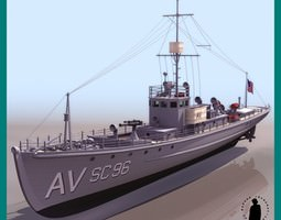 SUBCHASER WWI SHIP 3D Model