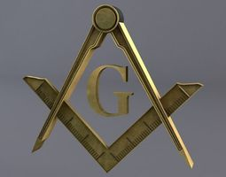 3D model Free Masonic Grand Lodge Sign