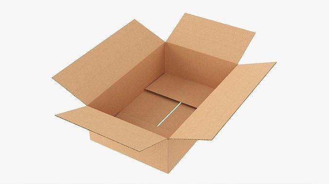 Cardboard box open mockup 01