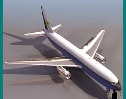 767 BOEING AIRPLANE 3D Model