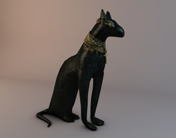 3D printable model Low Poly Bastet Statue
