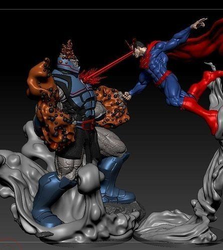 Superman Vs Darkseid from DC Comics fanart by CG pyro