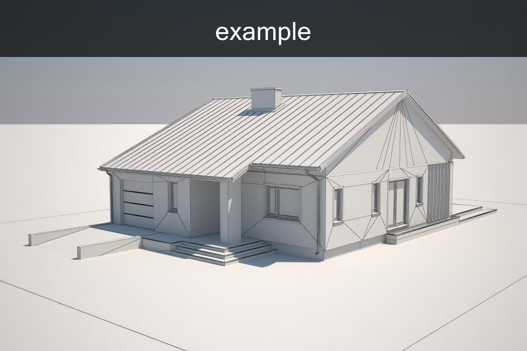 Example House Model 3d Model Max Obj 3ds Fbx 2