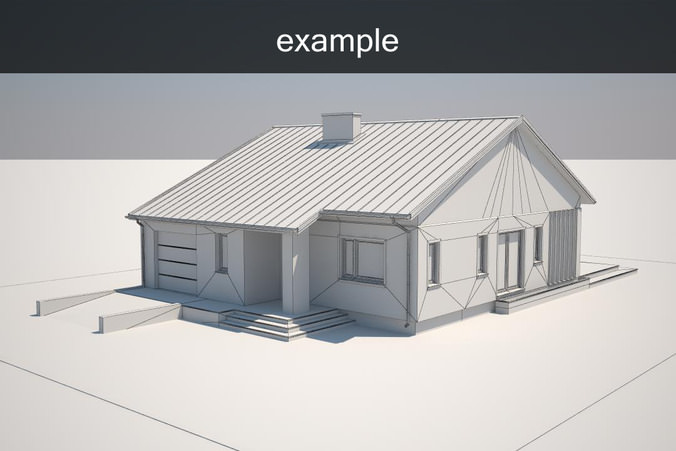 Example house model free 3d model max obj 3ds fbx 3d model sites